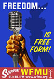 Freedom is Free-Form Independent Radio -- Support WFMU