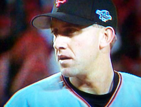 DCP02605.jpg: Kirk Rueter, who came into the game pitching for the Giants in the bottom of the 4th allows no runs through the 4th and 5th innings.