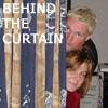 Aila and Jonas behind the curtain
